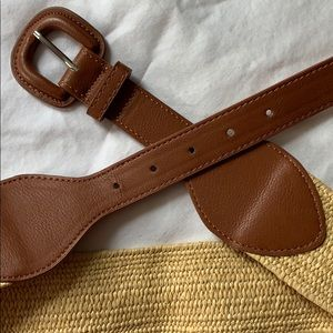 Rattan look brown belt